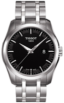 Tissot T0354101105100 Couturier Date Bracelet Strap Watch, Silver/black