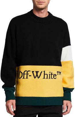 Off-White Men's Colorblock Logo Sweater