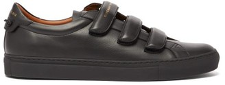 Givenchy Urban Street Velcro Leather Trainers - Mens - Black