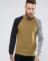 Asos Lambswool Sweater with Color Block Sleeves