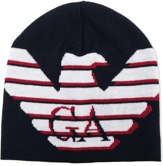 Emporio Armani Kids Eagle Logo Beanie Hat