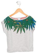 Little Marc Jacobs Girls' Floral Print Cap Sleeve Top
