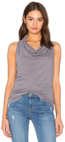 Bobi Light Weight Cashmere Terry Cowl Neck Tank