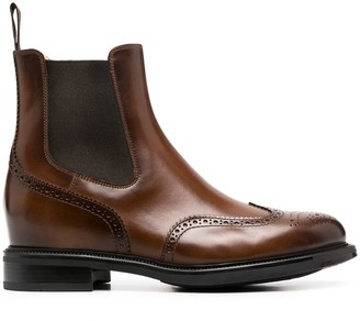 Santoni perforated-detail Chelsea boots