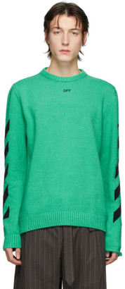 Off-White Green Diag Sweater