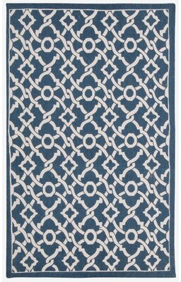Waverly Art House Geometric Blue Area Rug Rug Size: Rectangle 5' x 7'