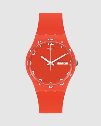 Swatch Analogue - OVER RED - Size One Size at The Iconic