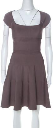 Issa Mocha Brown Ribbed Cap Sleeve Short Dress S