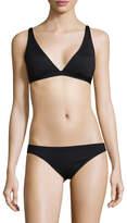 Vince Camuto Women's Solid V-Neck Bikini Top