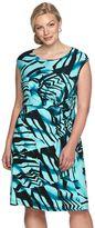 Dana Buchman Plus Size Knot-Front Dress