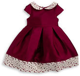 Laura Ashley Girls 2-6x Lace-Trimmed Pleated Dress