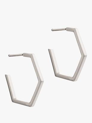 Rachel Jackson London Medium Hexagon Hoop Earrings