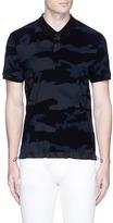 Moncler Camouflage print drawstring hem polo shirt