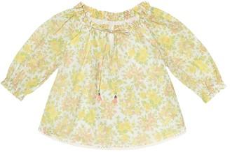 Zimmermann Kids Floral silk top