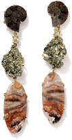 Jan Leslie 18k 3-Tier Tribal Luxury Earrings