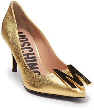 Moschino Logo Hardware Pointed Toe Pump