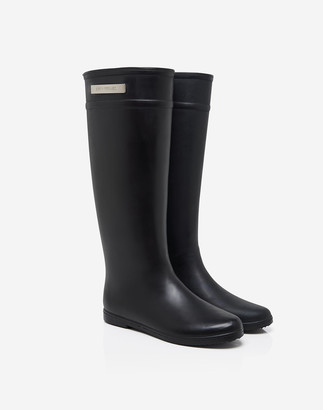 Madewell Alice + Whittles Classic Riding Rain Boots in Black