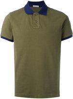 Moncler contrast collar polo shirt - men - Cotton - XXL