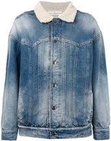 Golden Goose Deluxe Brand shearling denim jacket - women - Cotton/Acrylic/Cupro/Wool - XS