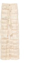 Akoia Swim Lilou Crocheted Cotton Wide-Leg Pants