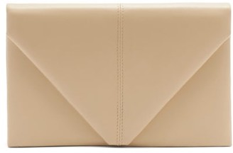 Hunting Season The Envelope Leather Clutch Bag - Beige