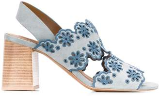 See by Chloe embroidered floral sandals