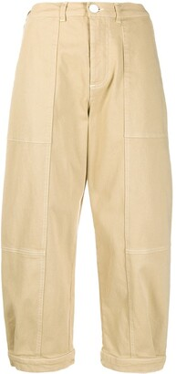 See by Chloe Cropped Wide Trousers