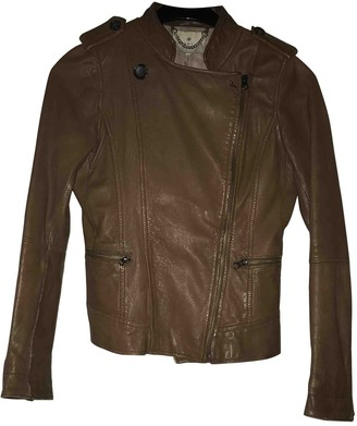Essentiel Antwerp Brown Leather Jacket for Women