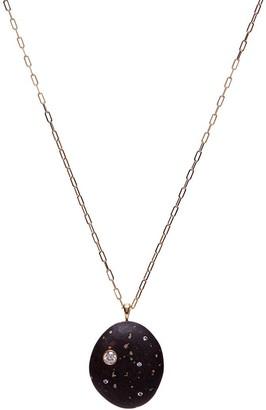 Cvc Stones 18kt yellow gold diamond Funfetti necklace