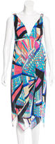 Emilio Pucci Silk Abstract Print Dress