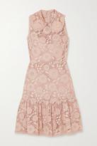 RED Valentino Ruffled Lace Mini Dress
