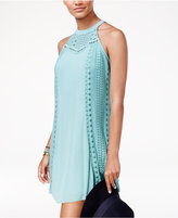 American Rag Juniors' Crochet-Trim Shift Dress, Created for Macy's