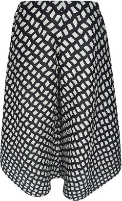 Pleats Please Issey Miyake Motif Print Skirt