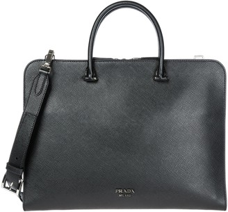 Prada Logo Laptop Bag