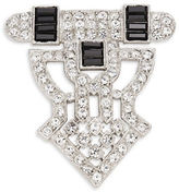 Kenneth Jay Lane Crystal Openwork Shield Pin