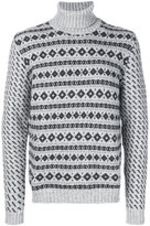 Woolrich patterned roll neck jumper