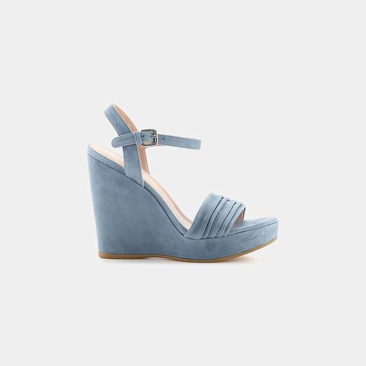 Stuart Weitzman Sundraped Platform Wedge Sandal