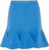 Flared stretch-cotton mini skirt