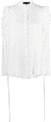 Ann Demeulemeester Ruched-Sleeve Shirt