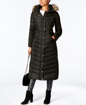 Michael Kors Michael Faux-Fur Trim Hooded Down Coat
