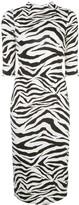 Alice + Olivia Alice+Olivia Delora zebra print dress