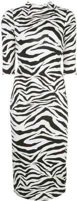 Alice + Olivia Delora zebra print dress