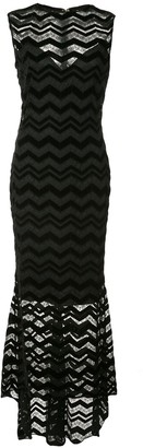 Christian Siriano Zigzag Panel Dress