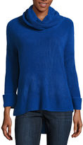 Liz Claiborne Long Sleeve Cowl Neck Pullover Sweater