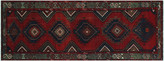 One Kings Lane Vintage Baluch Fred Runner - 3'6 x 9'7 - Noori Rug - red/blue