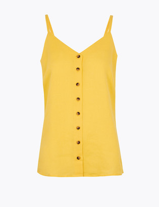 Marks and Spencer Pure Linen V-Neck Camisole Top