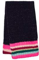 Le Big Navy ad Stripe Knitted Scarf