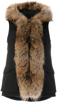 Woolrich fur-trimmed padded gilet - women - Polyamide/Polyester/Feather - S