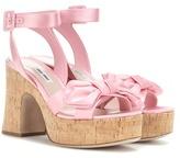 Miu Miu Platform satin sandals