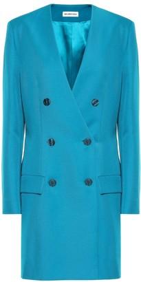 Balenciaga Oversized twill blazer dress